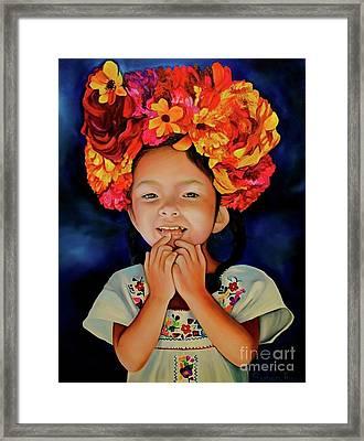 Little Ms Vela Framed Print by Barbara Rivera