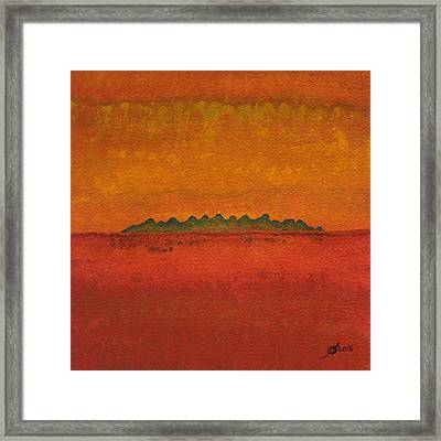 Little Needles Original Painting Framed Print by Sol Luckman