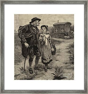 Little Nell And Her Grandfather  Framed Print by Frederick Morgan