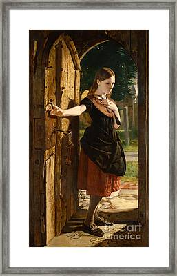 Little Nell Leaving The Church Framed Print by James Lobley