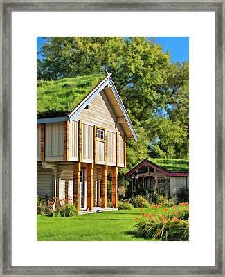 Little Norwegian Village On Washington Island In Door County Framed Print by Christopher Arndt