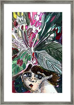 Little Nymph Framed Print by Mindy Newman
