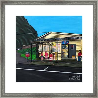 Little Oneroa Store Framed Print by Sandra Marie Adams