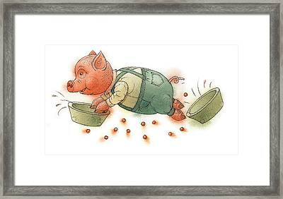 Little Pig Framed Print by Kestutis Kasparavicius