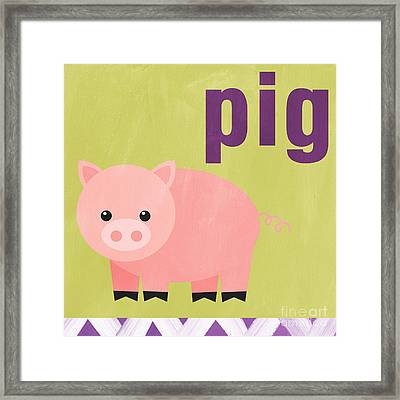 Little Pig Framed Print by Linda Woods
