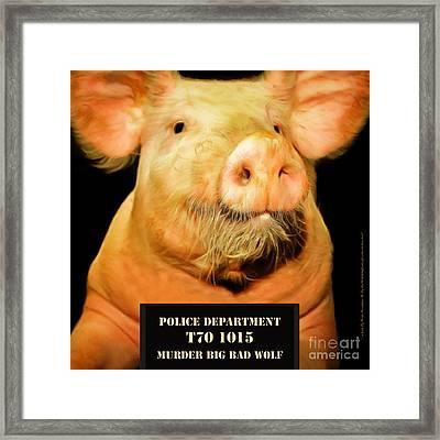 Little Pig Number Two Mugshot 20170921 Square Framed Print