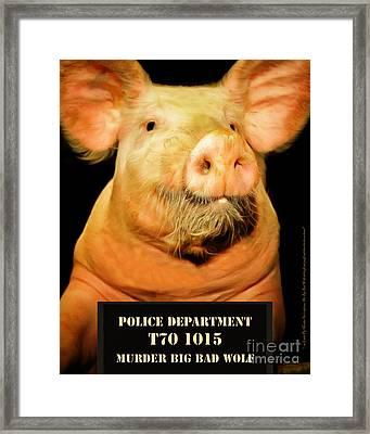 Little Pig Number Two Mugshot 20170921 Framed Print