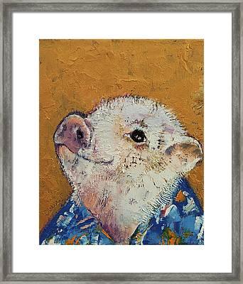 Little Piggy Framed Print