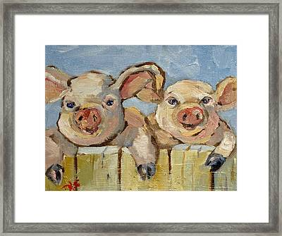 Little Pigs Framed Print by Delilah  Smith