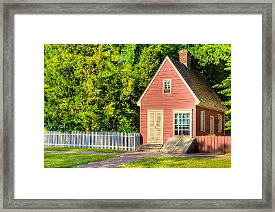 Little Pink Houses - Colonial America Framed Print by Mark E Tisdale
