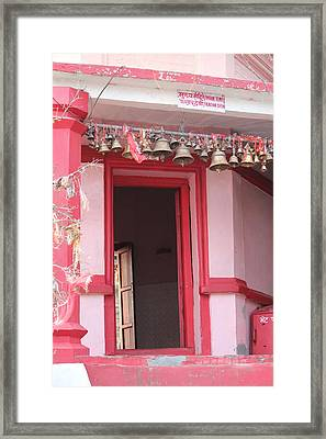 Little Pink Temple Up Close, Almora Framed Print by Jennifer Mazzucco