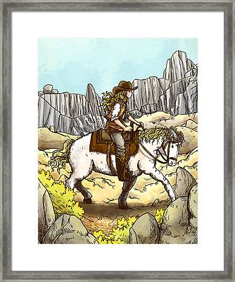 Little Pint And Tammy Framed Print