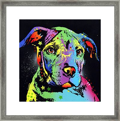 Little Pittie Warrior Framed Print by Dean Russo