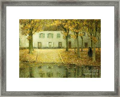 Little Place On The Banks Of The Eau At Chartres Framed Print