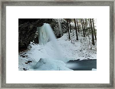 Little Ponly Tail Falls Framed Print by Jeff Swan