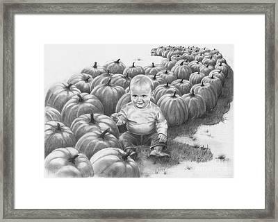 Little Pumpkin Framed Print