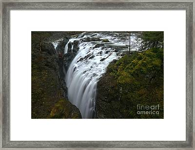 Little Qualicum Lower Falls Landscape Framed Print by Adam Jewell