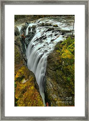 Little Qualicum Lower Falls Portrait Framed Print by Adam Jewell