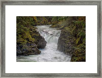 Framed Print featuring the photograph Little Qualicum Lower Falls by Randy Hall