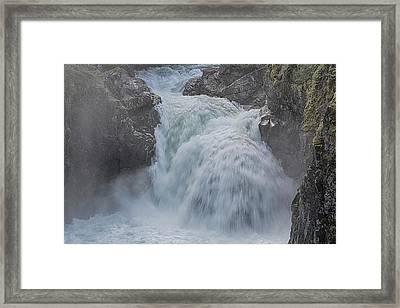 Little Qualicum Upper Falls Framed Print by Randy Hall