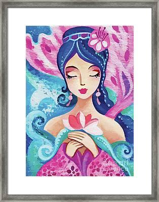 Little Quan Yin Mermaid Framed Print