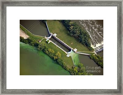 Little Rapids Lock Framed Print by Bill Lang