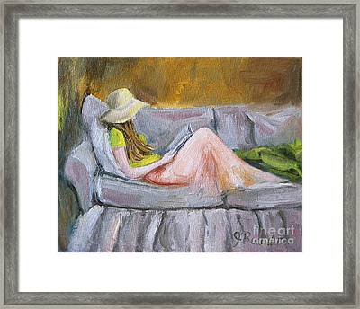 Little Reader Framed Print by Jennifer Beaudet