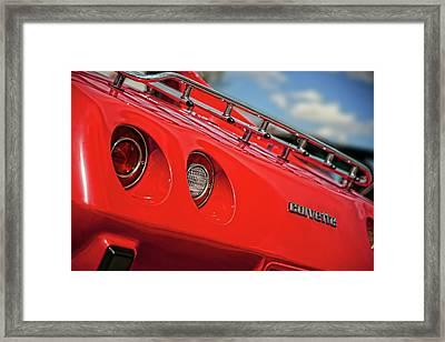 Little Red 1977 Corvette  Framed Print by Gordon Dean II