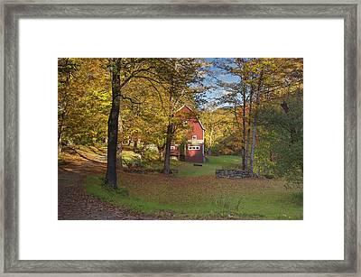 Little Red Barn  Framed Print by Jim LaMorder