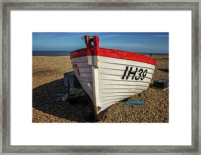 Little Red Boat Framed Print by Martin Newman