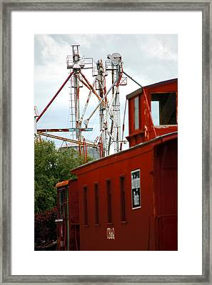 Little Red Caboose Framed Print by Jame Hayes