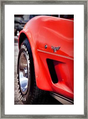 Little Red Corvette Framed Print by Gordon Dean II
