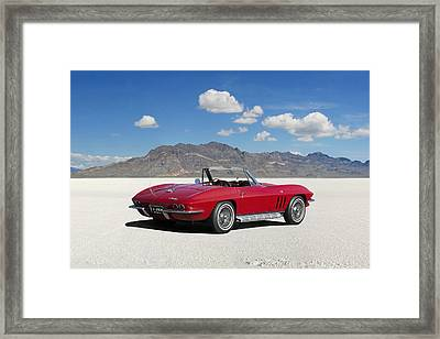 Little Red Corvette Framed Print by Peter Chilelli