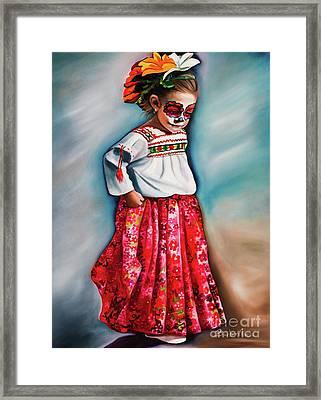 Little Red Dancer Framed Print by Barbara Rivera