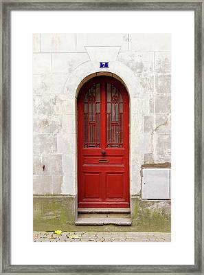 Framed Print featuring the photograph Little Red Door by Melanie Alexandra Price
