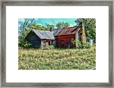 Framed Print featuring the photograph Little Red Farmhouse by Paul Ward