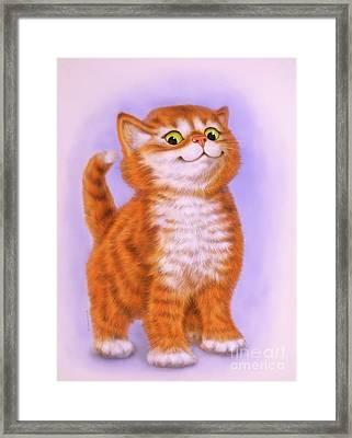 Little Red Kitten 2 Framed Print