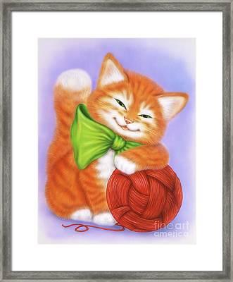 Little Red Kitten 3 Framed Print
