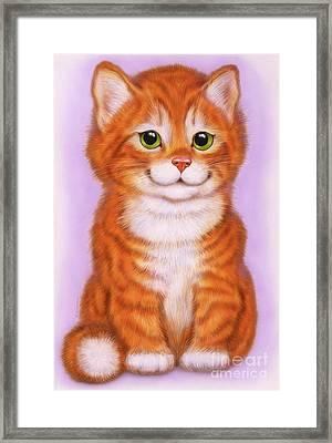 Little Red Kitten  Framed Print