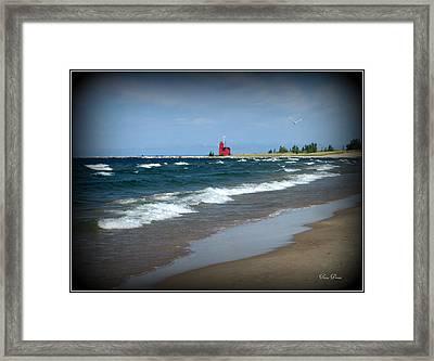 Little Red Lighthouse Framed Print by Trina Prenzi