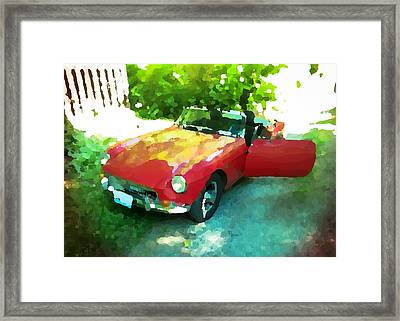 Little Red M G B Framed Print