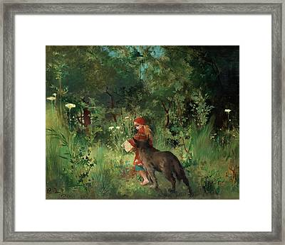 Little Red Riding Hood Framed Print by Mountain Dreams