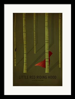 Red Art Digital Art Framed Prints