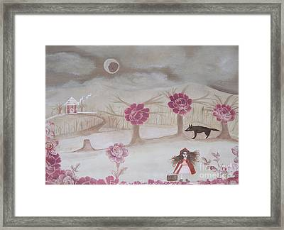 Little Red Riding Hood Framed Print by Sacred  Muse