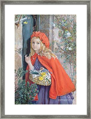Little Red Riding Hood Framed Print by Isabel Oakley Naftel