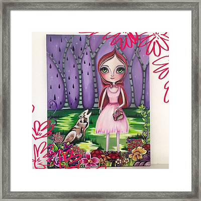 little Red Riding Hood Painting Framed Print by Jaz Higgins