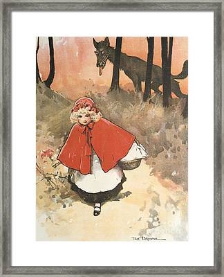 Little Red Riding Hood Framed Print by Tom Browne