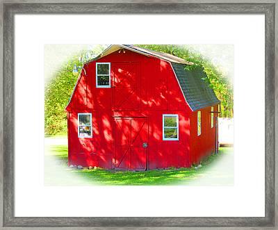 Little Red Riding Hoods Barn Cabin Framed Print
