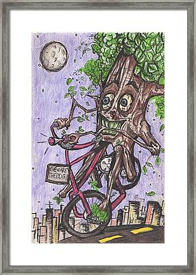 Little Red Riding Wood Framed Print by Jeremiah Strickland