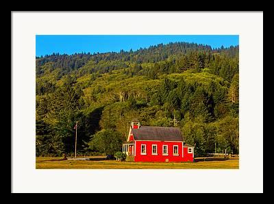 Red School House Photographs Framed Prints
